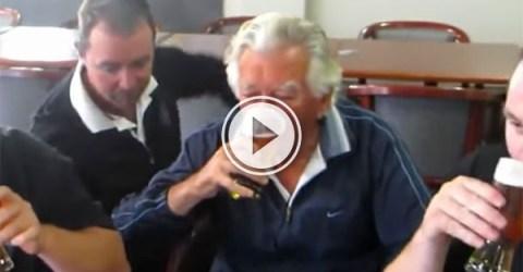 Bob Hawke beer downing compilation (Video)