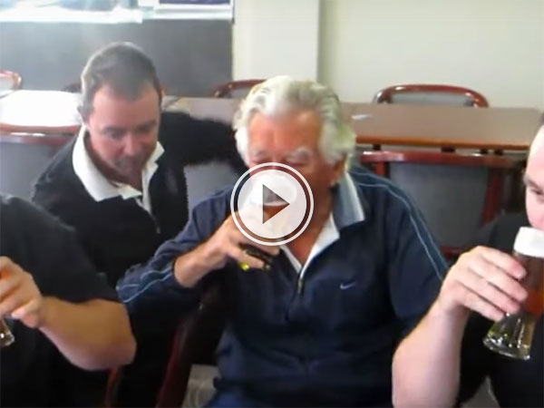 Bob Hawke beer downing compilation (Video)