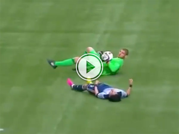MLS player takes massive hit from goalkeeper (Video)