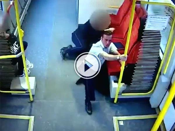 Train Driver runs through train warning passengers (Video)