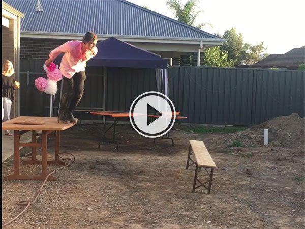 Man body slams bench in Australia (Video)