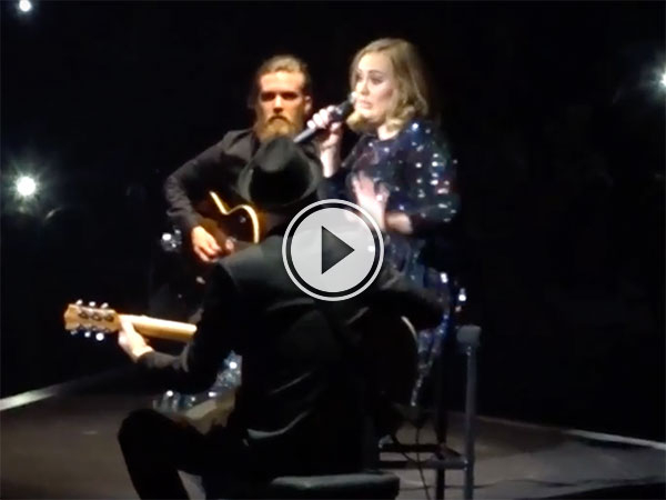 Adele forgets her own lyrics (Video)