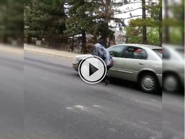 This skateboarding due almost gets taken out by a car! (Video)