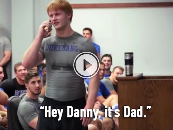 """Hey Danny, it's Dad."" (Video)"