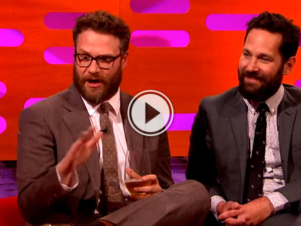 "On The Graham Norton Show Seth Rogan says ""It's bad to be blamed for almost starting a war!"""
