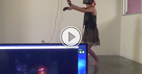 When your VR Zombie game becomes too real!! (Video)