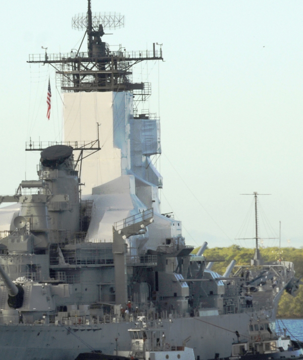 A docked warship in all its glory!