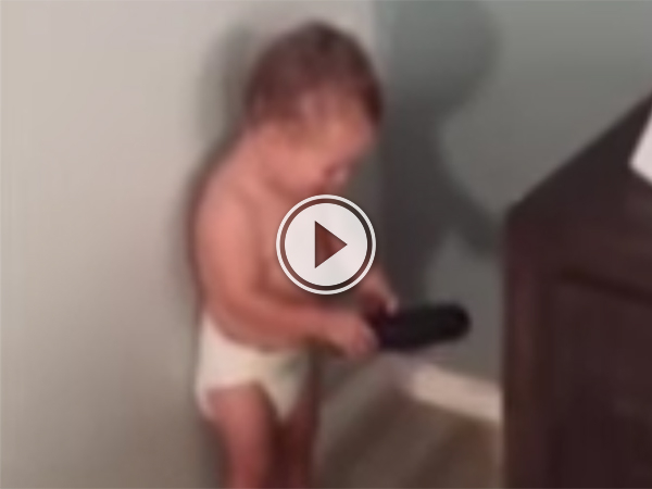 Screenshot of a kid in nappy playing