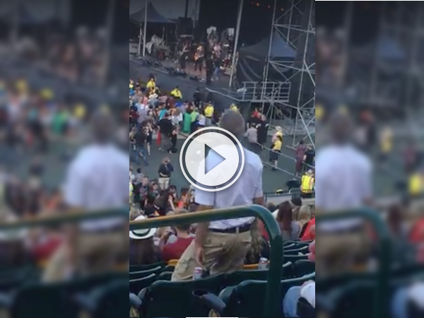 Looks like dad brought his best moves to the concert! (Video)
