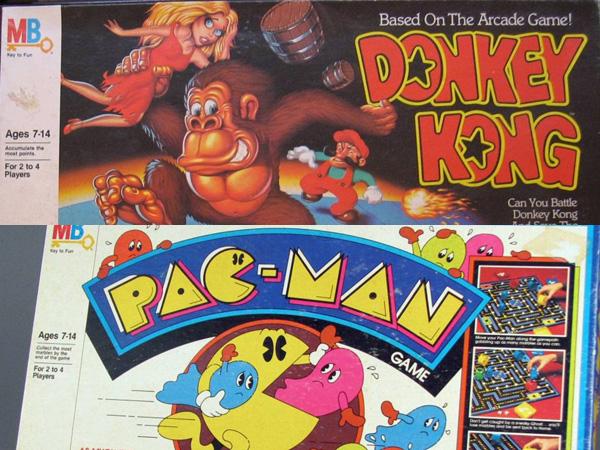 Donkey Kong and Pac-Man as board games!