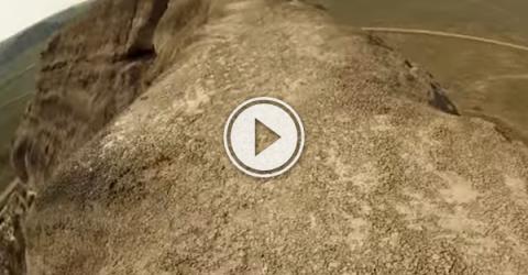 Sask. daredevil rides a unicycle across a metre high ridge, for fun! (Video)