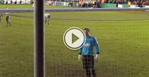 Birmingham City fans destroy Blyth Spartans' GK (Video)