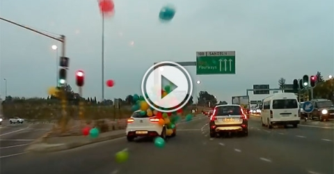 'Yeah, of course the balloons will fit in my car' (Video)