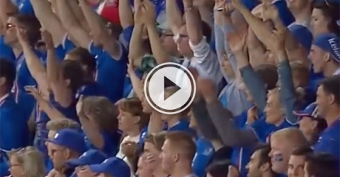 Iceland fans in epic chant (Video)