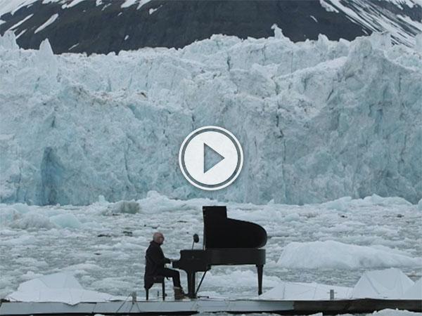 Pianist Ludovico Einaudi plays on the Atlantic Ocean (Video)