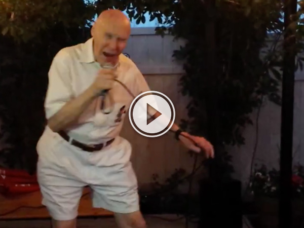 This grandpa is the definition of metal. (Video)