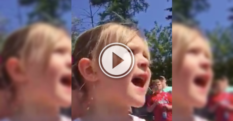 This kid sure appreciates the firefighters that saved her house! (Video)