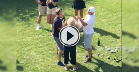 Add this grandma to the list of people chugging from the Stanley Cup! (Video)
