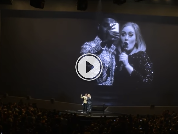 Come to think of it, we wouldn't mind getting a kiss from Adele! (Video)