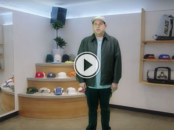 Jonah Hill reps for Palace and Reebok (Video)