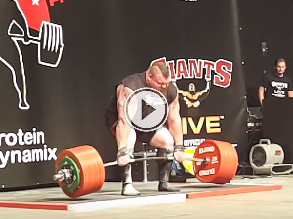 Eddie Hall deadlifts 500kg (Video)