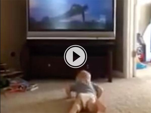 Baby imitates Rocky IV workout montage (Video)