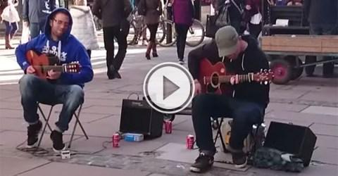 Bath street buskers perform Bohemian Rhapsody (Video)
