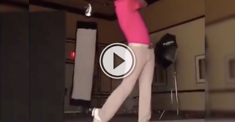 Paulina Gretzky's golfer fiancee's got one hell of a swing! (Video)