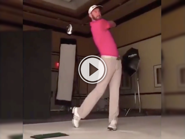 Paulina Gretzky's golfer fiancee's got one hell of a swing! (Video)