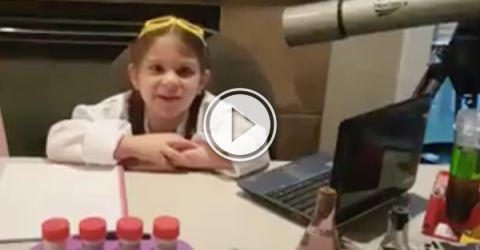 Kindergartener from Alberta, just wants some space! (Video)