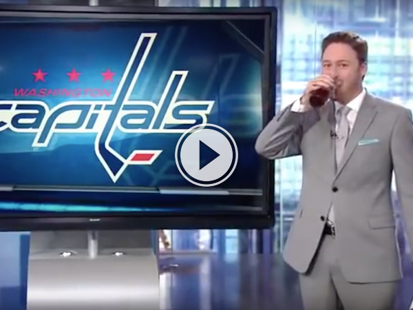 Sportscaster decides to drink on air after his team is eliminated (Video)