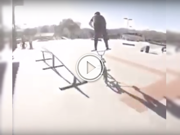 Oh god, why isn't he wearing a helmet? This trick is insane! (Video)