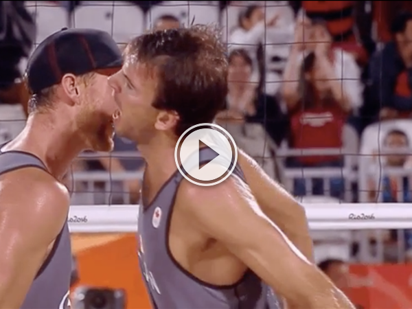 They win the match, but lose at the chest bump. Call it even? (Video)