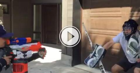 We should all use nerf guns for goalie training! (Video)