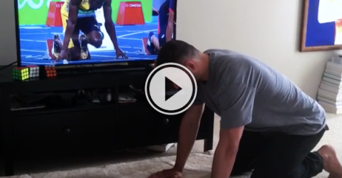 Who's faster at their sport: Usain Bolt or Anthony Brooks? (Video)