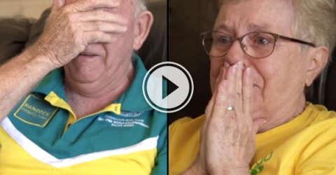 Kyle Chalmers grandparents cry tears of joe when he wins olympic gold