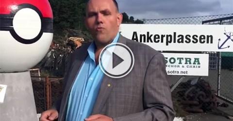 Norwegian village builds statue to get Pokestop (Video)