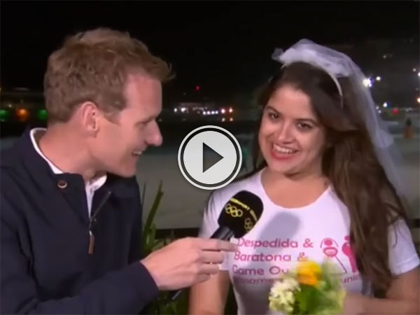 Hen Party crashes BBC Olympic coverage (Video)