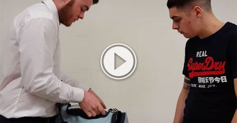 Friend hides dildo in mate's luggage (Video)