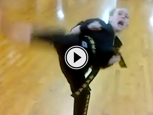 Little girls epic karate routine