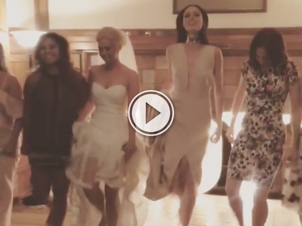 Irish dancing at a wedding, when suddenly a wild Canadian supermodel appears! (Video)