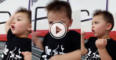 Watch this kid's adorable reactions to his first hockey game! (Video)