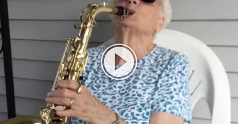 Grandson has awesome relationship with his funny grandma (Video)