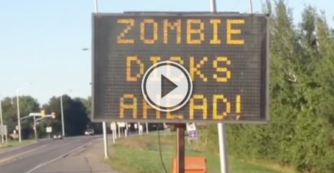 Lookout, there's a zombie wiener up ahead! (Video)