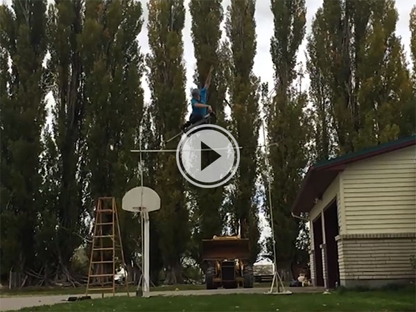 Guy sets pogo stick high jump world record leaping almost 11 feet (Video)