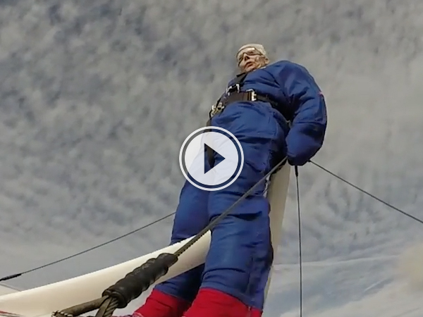 81 year old Grandma gets strapped to the top of a plane (Video)