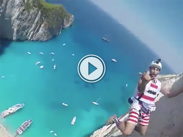 Base jumping over a shipwreck sure sounds like a bad omen