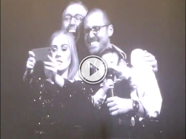 Cute kid gets a selfie with Adele at the Toronto show (Video)