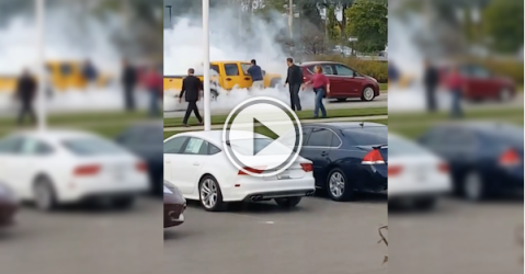 Medical issue causes a car to crash and burn! (Video)