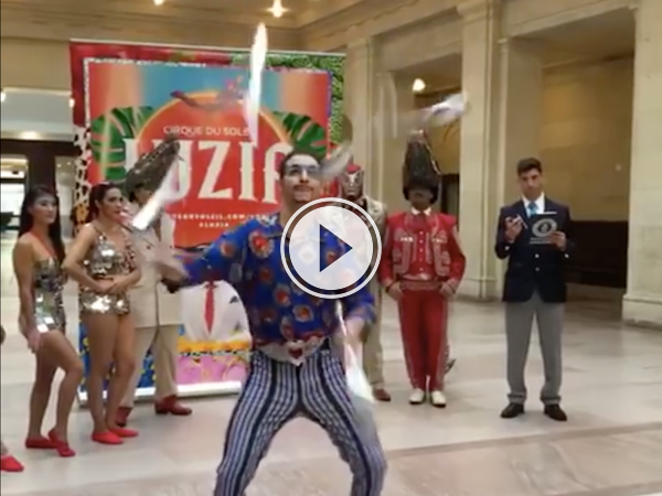 So that's what a world record juggler looks like! (Video)